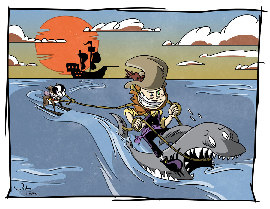 Sharks are second-class citizens in this comic, always